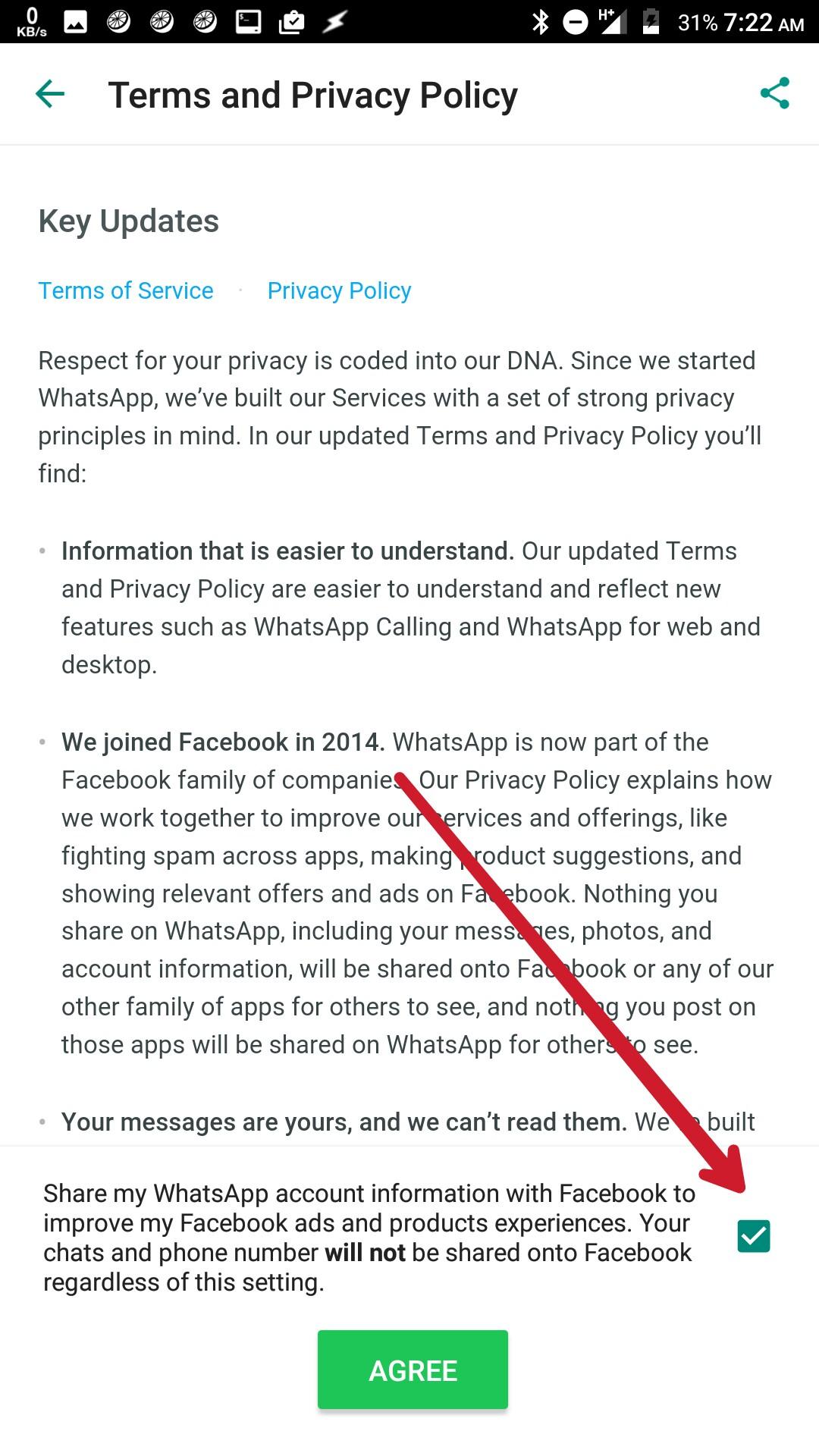 Bagaimana untuk menghentikan perkongsian maklumat sensitif antara WhatsApp dan Facebook? 2