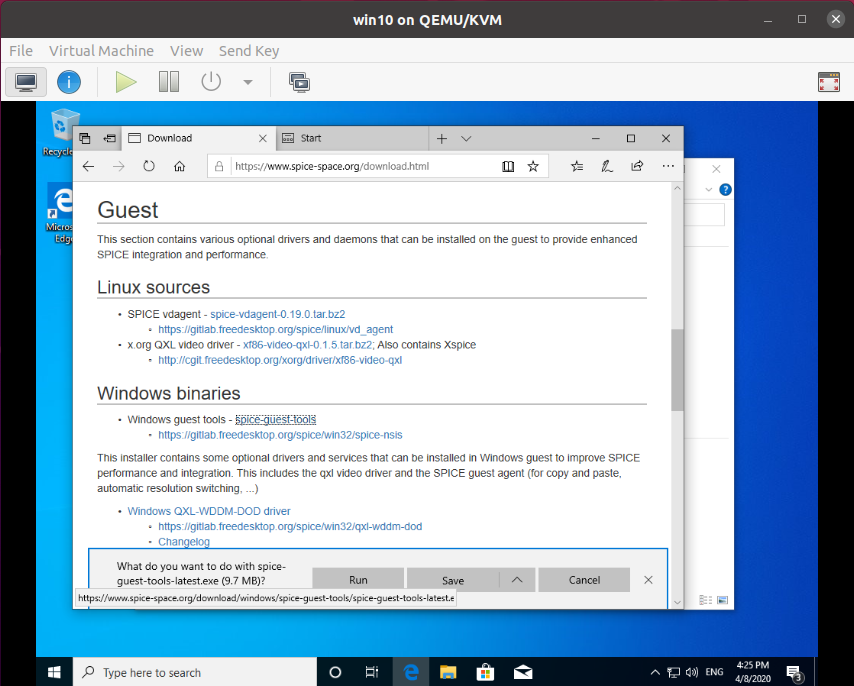Windows Guest Tools for clipboard sharing