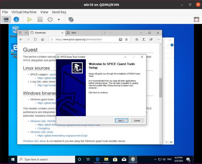 How to Enable clipboard and folder sharing in Qemu/KVM on Windows Guest 1