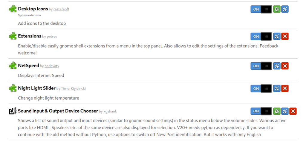 """How to update GNOME extension properly? Get rid of """"Error"""". 2"""